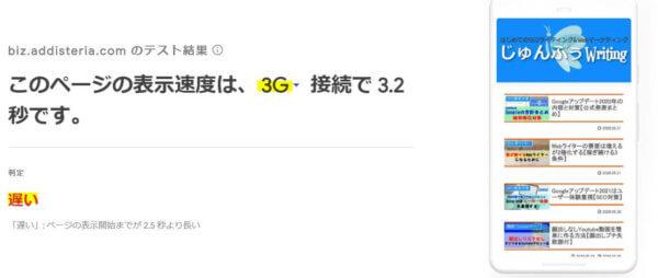 Test My Site 3G画面