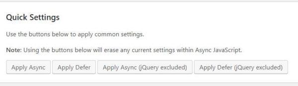 async javascript quick setting